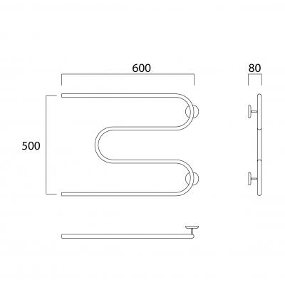 Полотенцесушитель Роснерж М образный M101000 50x60