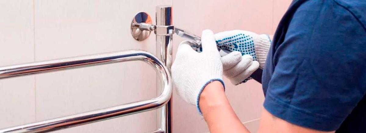 Как установить водяной полотенцесушитель