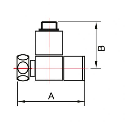 """Кран-Вентиль для полотенцесушителя угловой/квадрат ручка квадратная 3/4"""" х 1/2"""" г/ш"""